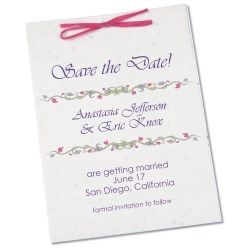 View a larger, more detailed picture of the Seeded Invitation Program - 7 x 5 - Wildflower