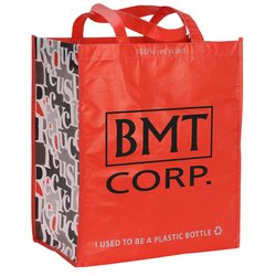View a larger, more detailed picture of the Expressions Grocery Tote - Red