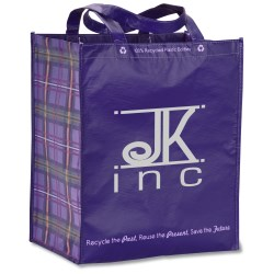 View a larger, more detailed picture of the Expressions Grocery Tote - Purple