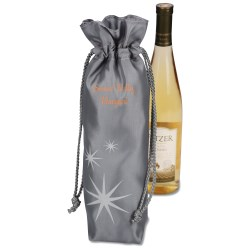 View a larger, more detailed picture of the Frost Star Wine Gift Bag - Closeout