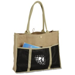 View a larger, more detailed picture of the Jute Evolution Tote - Closeout