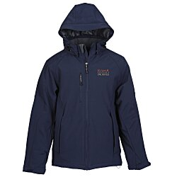 View a larger, more detailed picture of the North End Insulated Soft Shell Hooded Jacket - Men s