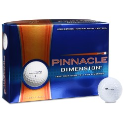 View a larger, more detailed picture of the Pinnacle Dimension Golf Balls - Closeout