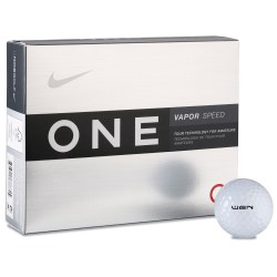 View a larger, more detailed picture of the Nike One Vapor Speed Golf Balls - Closeout
