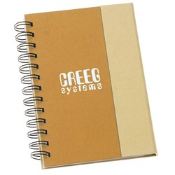 View a larger, more detailed picture of the Recycled Foldover Notebook - Closeout