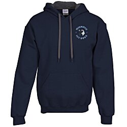 View a larger, more detailed picture of the Gildan 50 50 Hooded Sweatshirt w Contrast Color - Emb
