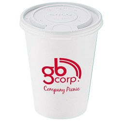 View a larger, more detailed picture of the Paper Hot Cold Cup with Tear Tab Lid - 12 oz