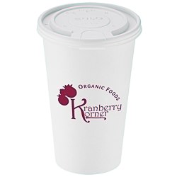 View a larger, more detailed picture of the Paper Hot Cold Cup with Tear Tab Lid - 16 oz - Low Qty