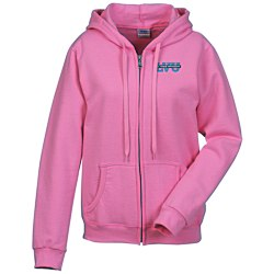 View a larger, more detailed picture of the Gildan Full-Zip Hoodie - Ladies - Embroidered