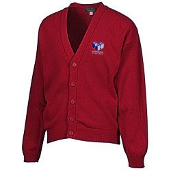 View a larger, more detailed picture of the Acrylic V-Neck Cardigan - Men s