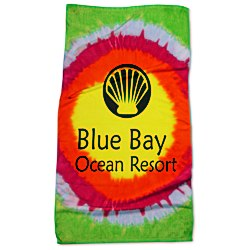 View a larger, more detailed picture of the Tie-Dye Beach Towel - Teardrop