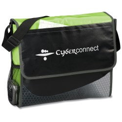 View a larger, more detailed picture of the Laminated Messenger Bag - Closeout