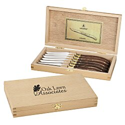 View a larger, more detailed picture of the Laguiole 6-Piece Knife Set - 24 hr