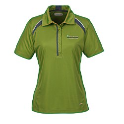 View a larger, more detailed picture of the Quinn Color Block Textured Polo - Ladies