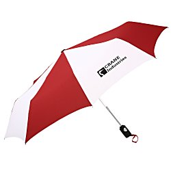 View a larger, more detailed picture of the totes Auto Open Close Umbrella - Two-Tone - 24 hr