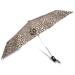 View a larger, more detailed picture of the totes Auto Open Close Umbrella - Leopard - 24 hr