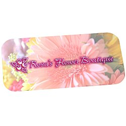 View a larger, more detailed picture of the Full Color Name Badge - Rectangle - Pin