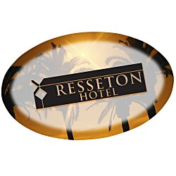 View a larger, more detailed picture of the Full Color Name Badge - Oval - Pin