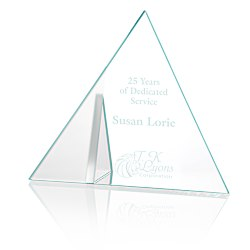 View a larger, more detailed picture of the Frost Triangle Crystal Award