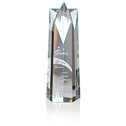 View a larger, more detailed picture of the Soaring Star Crystal Tower Award - 10