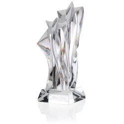 View a larger, more detailed picture of the Shining Stars Crystal Award