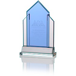 View a larger, more detailed picture of the Indigo Celebration Crystal Award - Peak
