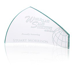 View a larger, more detailed picture of the Pennant Starfire Glass Award - 4