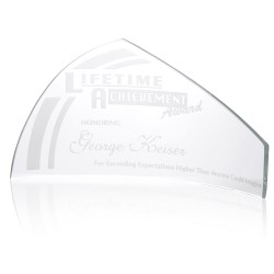 View a larger, more detailed picture of the Pennant Starfire Glass Award - 6