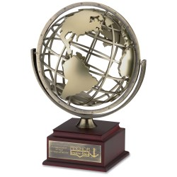 View a larger, more detailed picture of the Spinning Globe Achievement Award