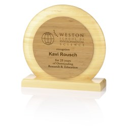 View a larger, more detailed picture of the Impressions Bamboo Award - Circle