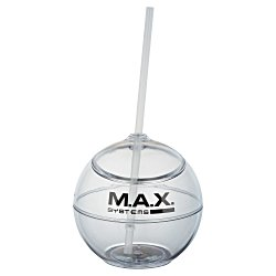 View a larger, more detailed picture of the Fiesta Ball Tumbler with Straw - 22 oz