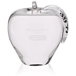 View a larger, more detailed picture of the Apple Crystal Paperweight