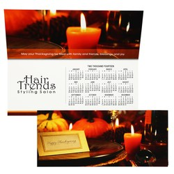 View a larger, more detailed picture of the Greet n Keep Calendar Card - Thanksgiving