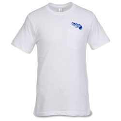 View a larger, more detailed picture of the Canvas Jersey Pocket T-Shirt - White