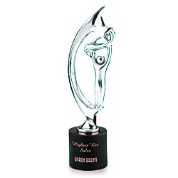 View a larger, more detailed picture of the Showstopper Cast Metal Achievement Award - 14 - Chrome