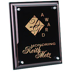 View a larger, more detailed picture of the Black Finished Plaque with Jade Glass Plate - 10