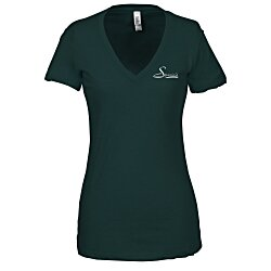 View a larger, more detailed picture of the Bella Tri-Blend Deep V-Neck T-Shirt - Ladies