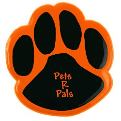 View a larger, more detailed picture of the Reflective Clipster - Paw Print