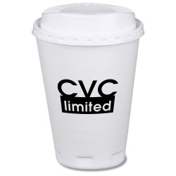 View a larger, more detailed picture of the Trophy Hot Cold Cup with Traveler Lid - 12 oz - Low Qty