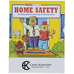 View a larger, more detailed picture of the Home Safety Coloring Book