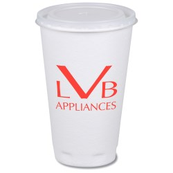 View a larger, more detailed picture of the Trophy Hot Cold Cups w Straw Slotted Lid - 16 oz