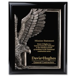 View a larger, more detailed picture of the Majestic Eagle Plaque - 10 - Black