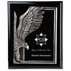 View a larger, more detailed picture of the Majestic Eagle Plaque - 13 - Black