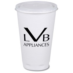 View a larger, more detailed picture of the Trophy Hot Cold Cup with Straw Slotted Lid - 16 oz - Low Qty