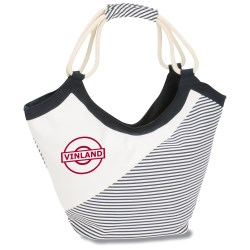 View a larger, more detailed picture of the Striped Cotton Rope Tote