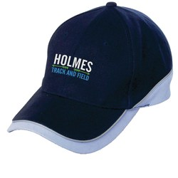 View a larger, more detailed picture of the Sport Cap w Reflective Piping - Embroidered