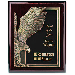 View a larger, more detailed picture of the Majestic Eagle Plaque - 13 - Cherry