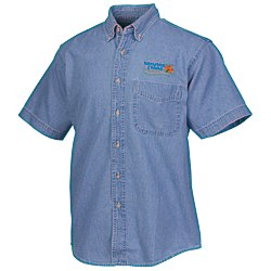 View a larger, more detailed picture of the Blue Generation Short Sleeve Denim Shirt - Men s