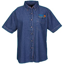 View a larger, more detailed picture of the Blue Generation Short Sleeve Denim Shirt - Ladies