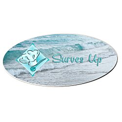 View a larger, more detailed picture of the Metal Name Badge - Oval - 1-1 2 x 3